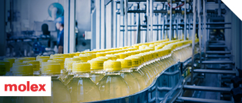 Plastic bottles on an Industry 4.0 production line