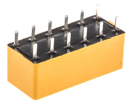4 刀单掷 - 常开 印刷电路板安装 非闭锁继电器, 38.5 ma, 5v dc
