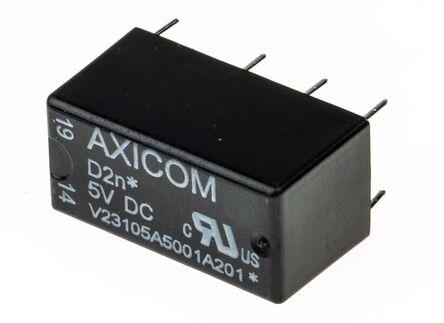 双刀双掷 印刷电路板安装 非闭锁继电器, 5v dc