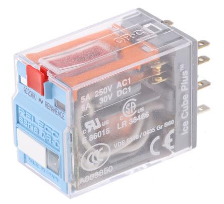 双刀双掷 印刷电路板安装 自锁继电器, 5 a, 230v ac, 适用于电源应用