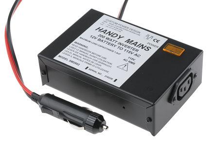 200W 直流-交流汽车电源逆变器, 11 → 15V dc / 115V ac