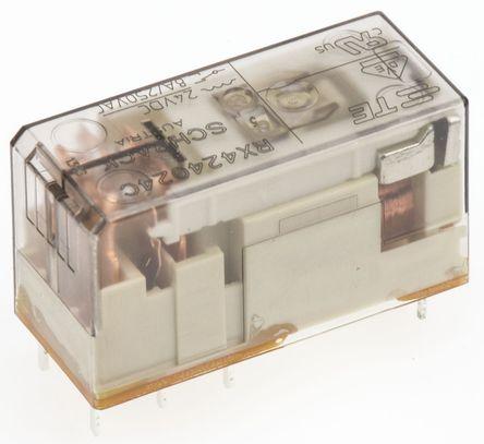 双刀双掷 印刷电路板安装 非闭锁继电器, 24v dc