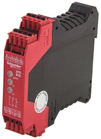 preventa xps bce 安全继电器, 24 v 交流/直流, 2 常开 安全, 常闭