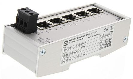 harting 5个rj45 端口 以太网交换机, din 导轨安装, 10 mbit/s, 100