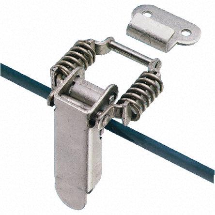 直角扳钮闩锁,提供备选固定方法 弹簧机制带来的宽位置容差 提供两种尺寸 工作张力为 30kgf M3.5 固定 大型闩锁有锁定设备来防止意外打开
