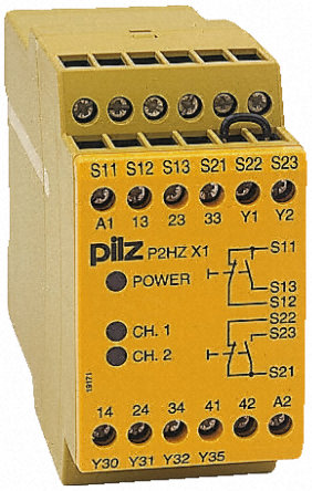 pnoz x 安全继电器, 双通道, 230 v 交流, 3 常开 安全, 常闭 辅助