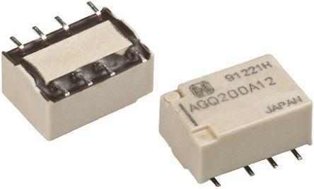 双刀双掷 印刷电路板安装 非闭锁继电器, 1 a, 3v dc