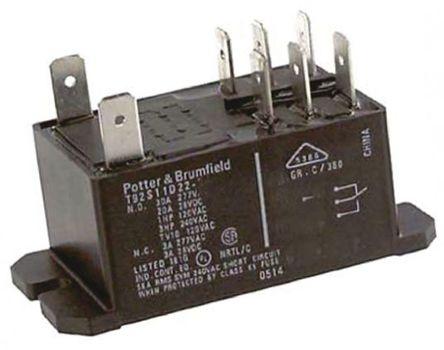 双刀双掷 面板安装 非闭锁继电器, 12v