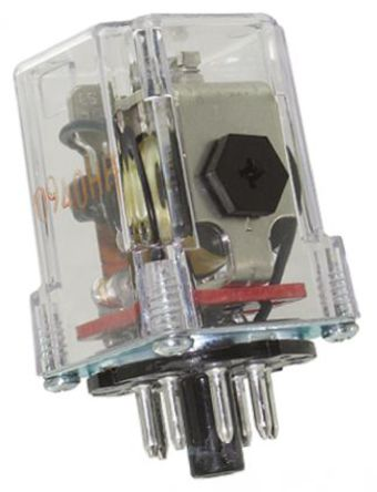 双刀双掷 插座安装 非闭锁继电器, 120v