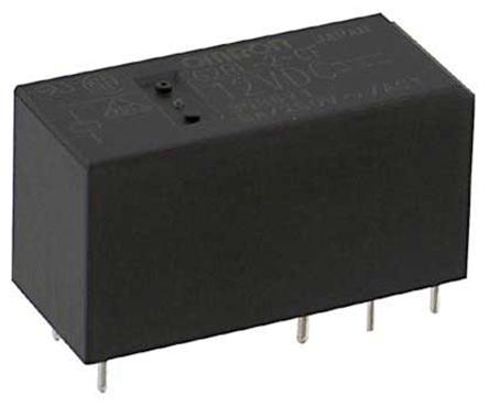 双刀双掷 印刷电路板安装 非闭锁继电器, 8 a, 24v dc