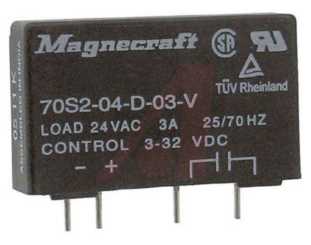 3 a 印刷电路板安装 零交叉切换 单刀单掷 - 常开 三端双向可控硅开关