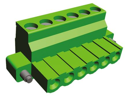 08mm 直角印刷电路板插头连接器,带锁定螺钉法兰 termi-blok 5.