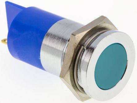 rs 平接, 蓝色 led 面板安装 指示灯, 焊接接线片接端 22mm安装孔尺寸