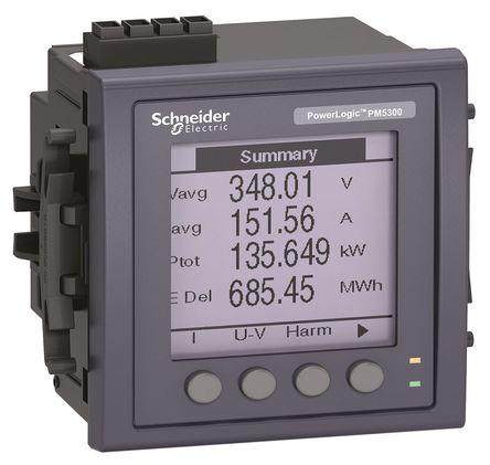 功率表_schneider electric 92 x 92 mm 3 lcd 数字功率表, 脉冲输出 ±0.5%
