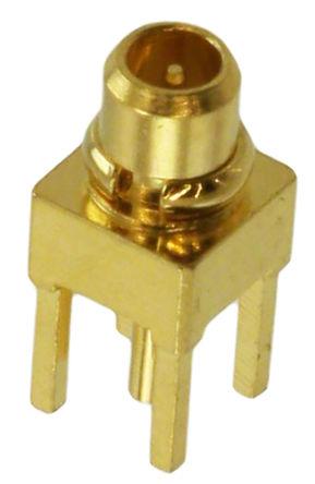 直向 印刷电路板安装安装 mmcx 连接器, 插头, 焊接端接 适合隔板