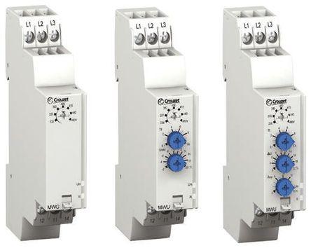 相位 监控继电器 带 sp - 常开/常闭 触点, 3 相, 208 → 480 v 交流